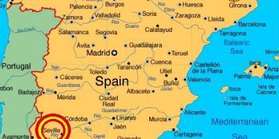 Cartina Jerez De La Frontera.Seville Peta Peta Seville Andalusia Spanyol